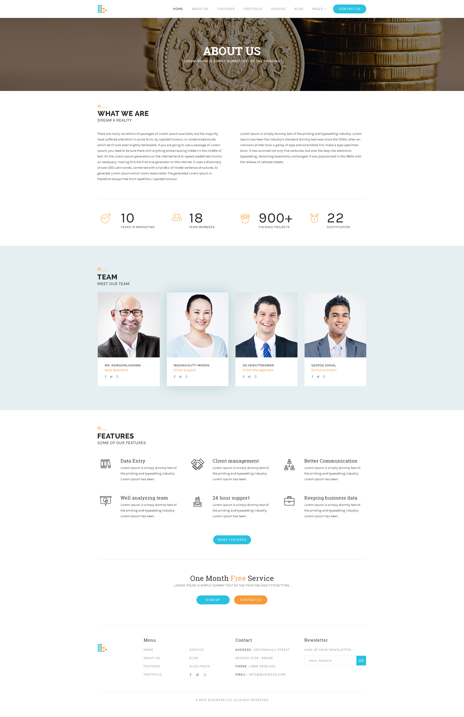 Consultancy Website Template Free PSD