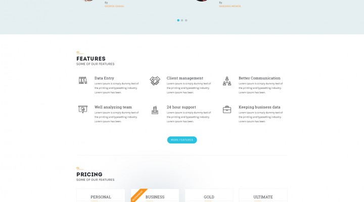 Bplus – Consultancy Website Template Free PSD