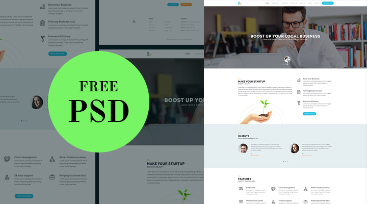 Consultancy website template free psd wajeb Choice Image