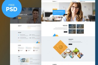 Business Plus Free PSD Website Template