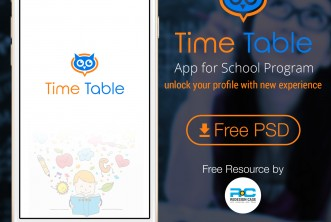School Time Table Mobile App UI Kit