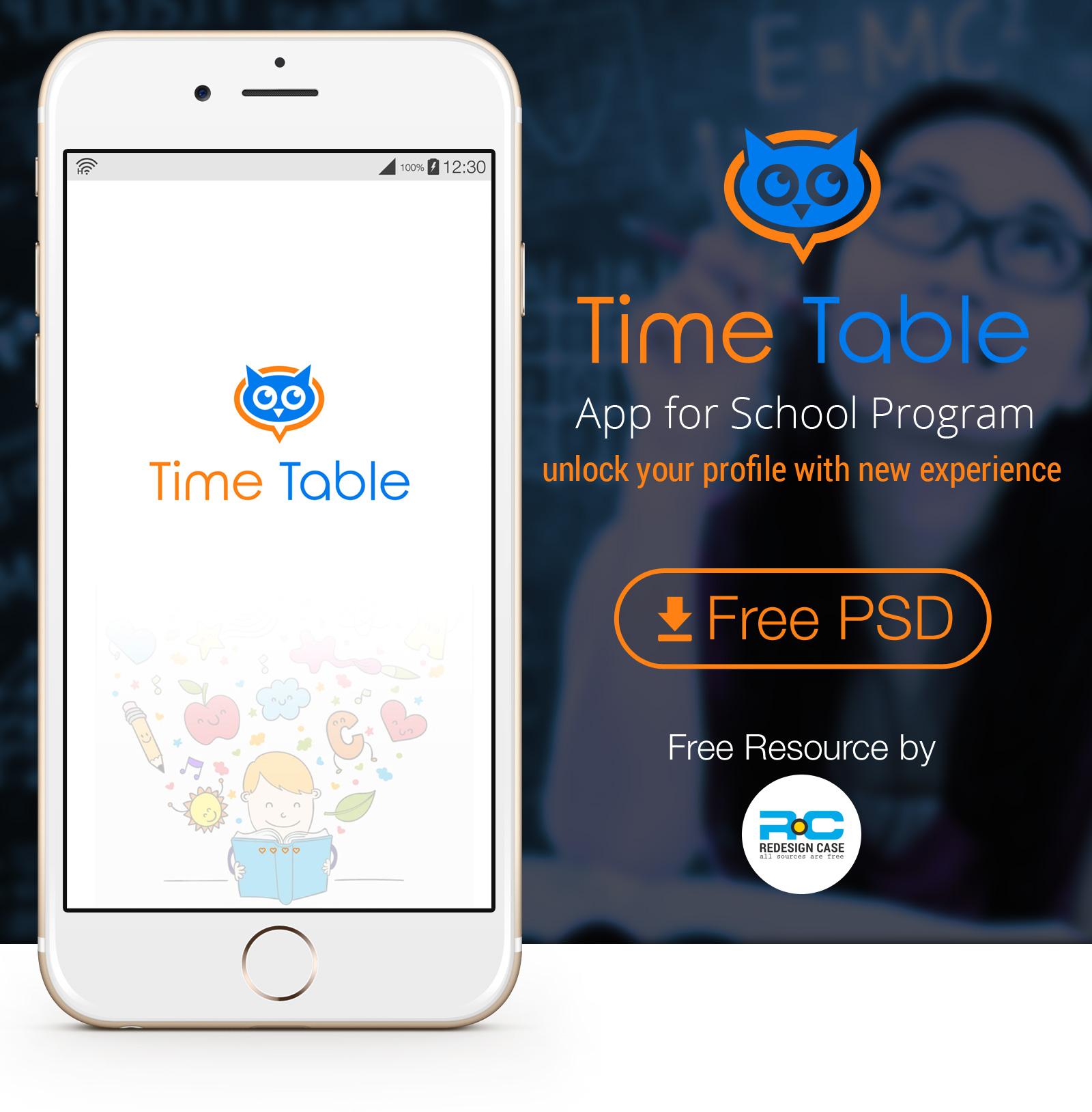 Collection of color palettes photoshop for ui designs web3canvas - School Time Table Mobile App Ui Kit