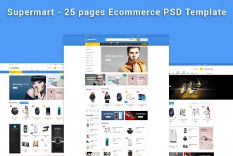 Supermart e-Commerce PSD