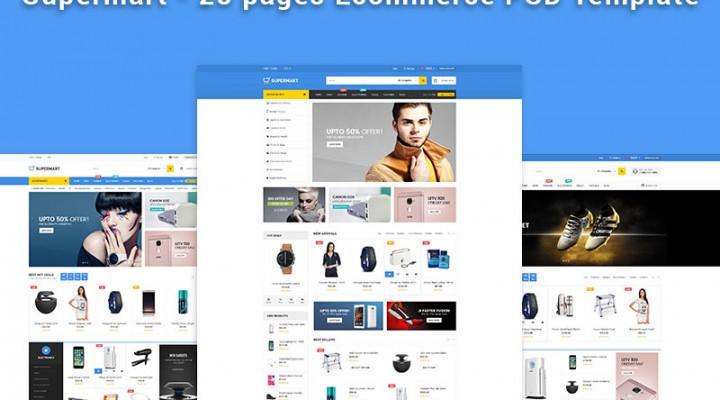 Supermart e-Commerce PSD