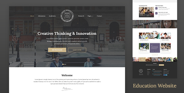best education website templates of 2017 html