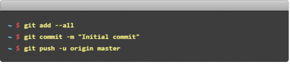 add,commit and push changes