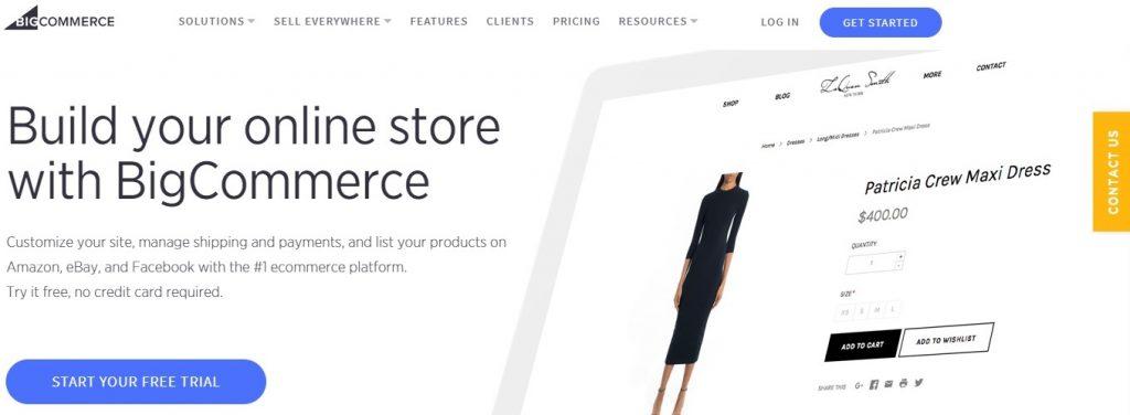 compare eCommerce platforms - Shopify, 3dcart, BigCommerce