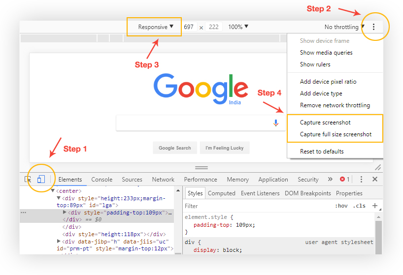 How To Take Full Page Website Screenshot Without Any Extension Via Chrome