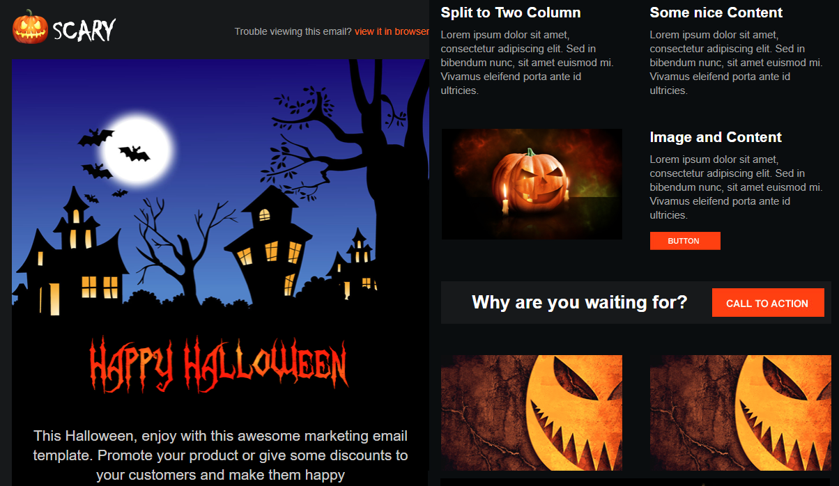 Scary – Halloween Email Campaign Template