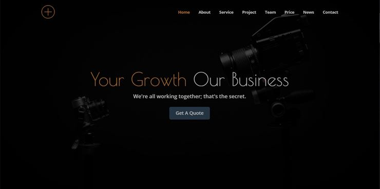 Bizplus - One Page Parallax Web3Canvas
