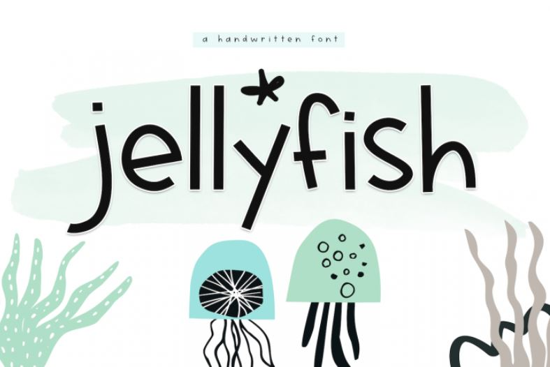 Jellyfish - A Fun Handwritten Font Web3Canvas