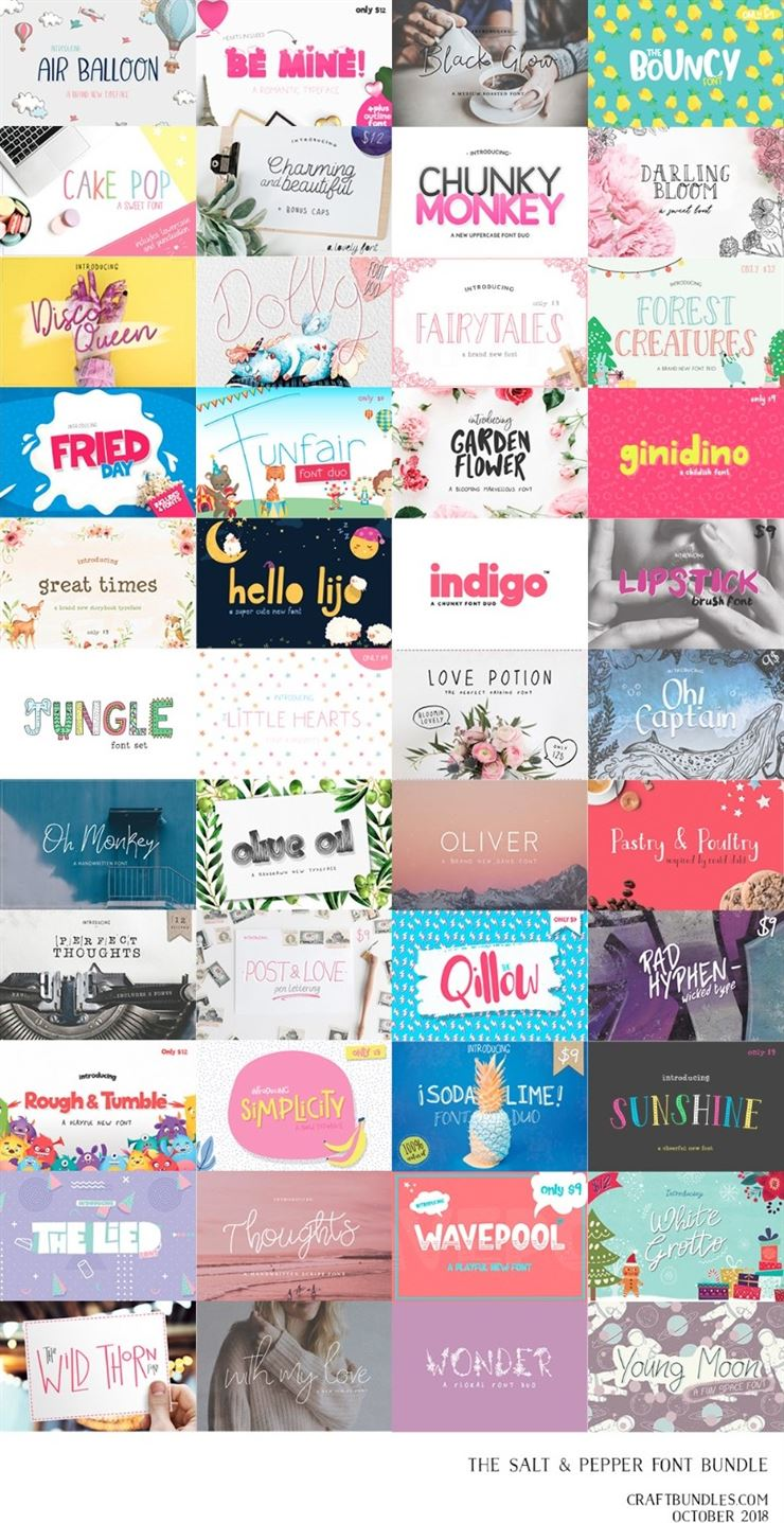 The Salt and Pepper Fonts Bundle Web3Canvas