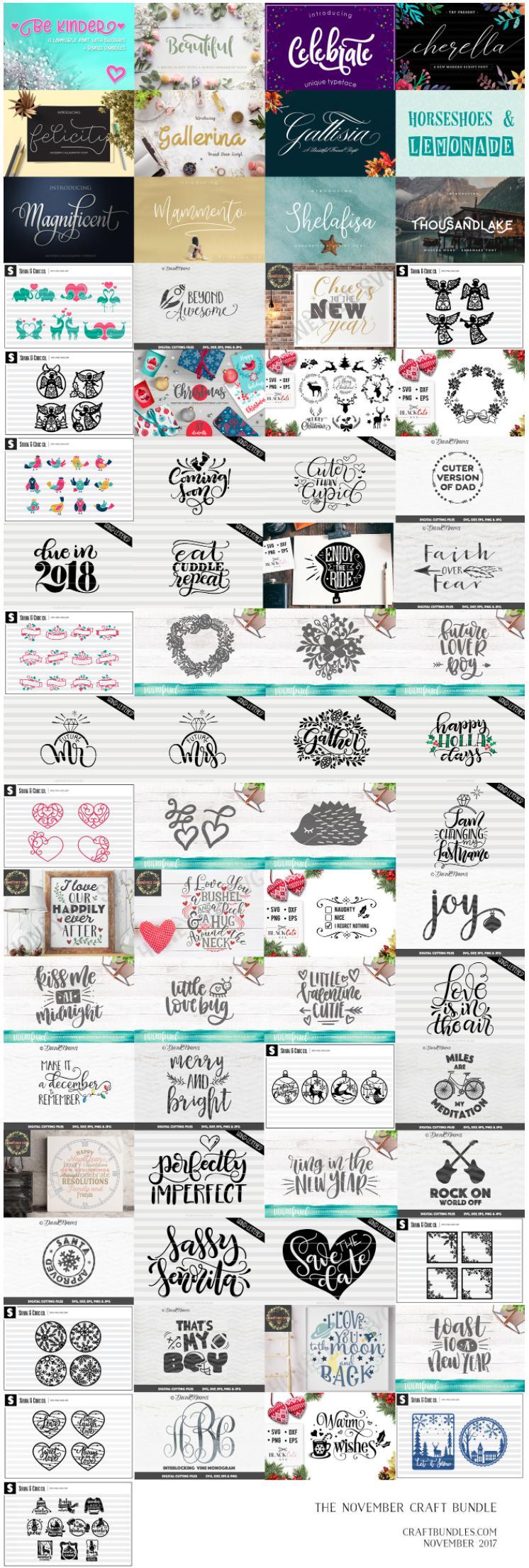 The November Craft Bundles By CraftBundles.com