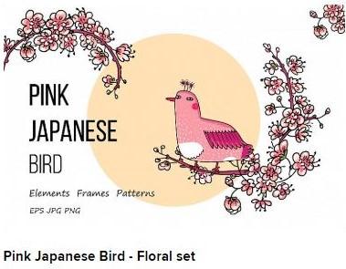 pink japanese bird Web3Canvas