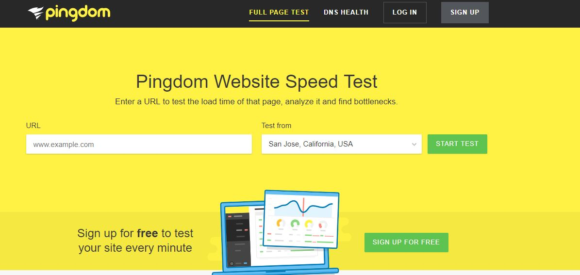 pingdom page speed test