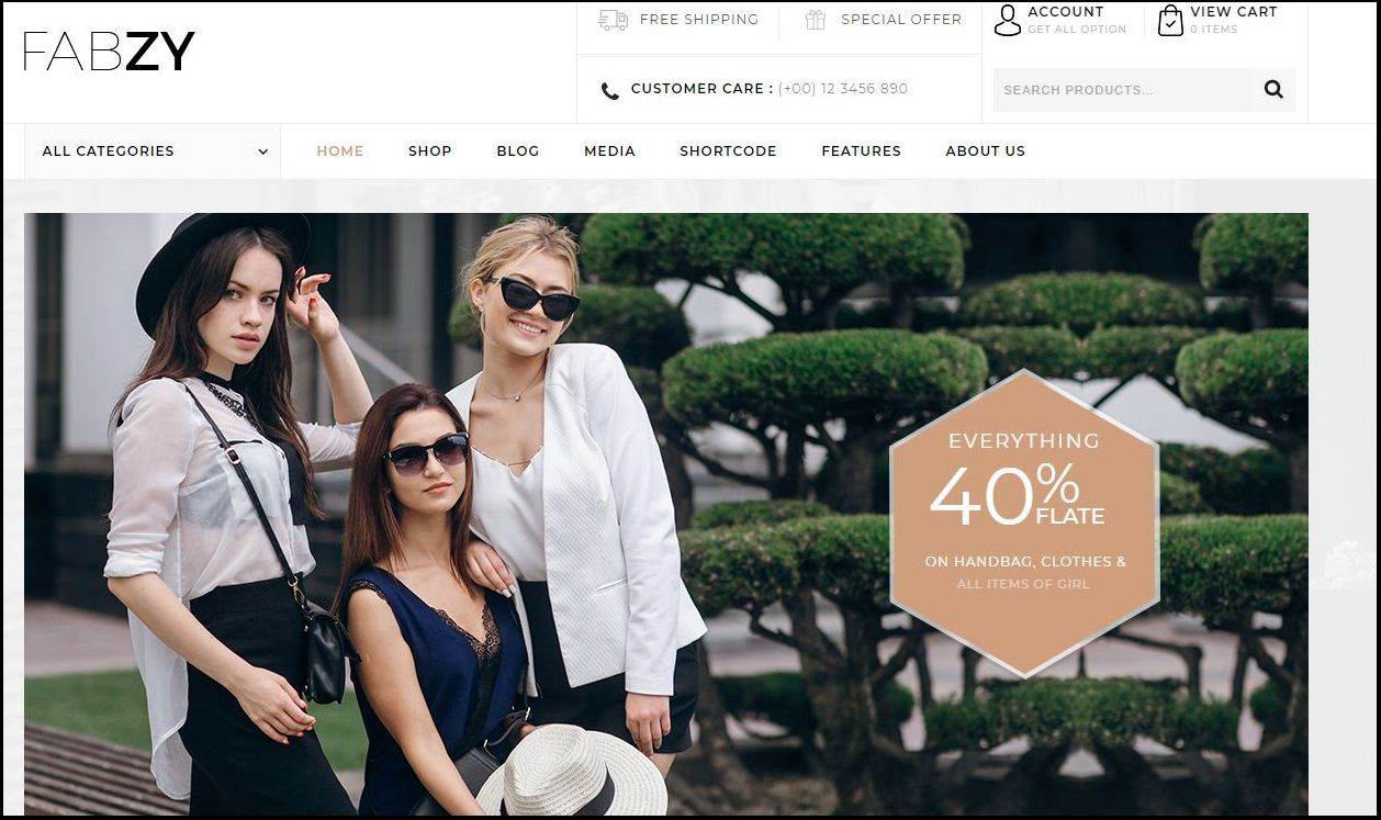 c41660fc632 Fabzy is WordPress ecommerce theme based on WooCommerce plugin. It is also  multipurpose theme which can be used for any kind of online store. Features