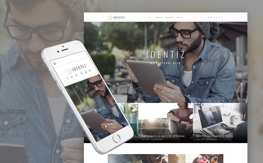 Inspiring Personal Blog Theme for WordPress