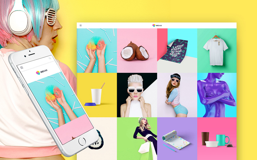 Bright & Colorful Design Blog WordPress Template