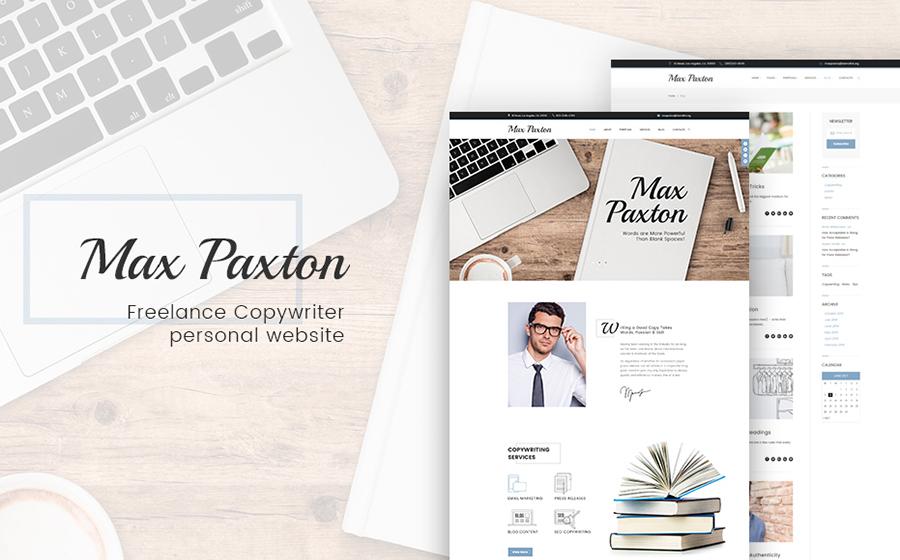 Personal Portfolio Responsive WordPress Template
