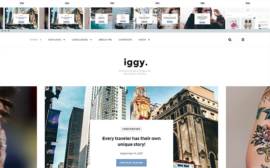Simply Designed Travel Guide WordPress Template