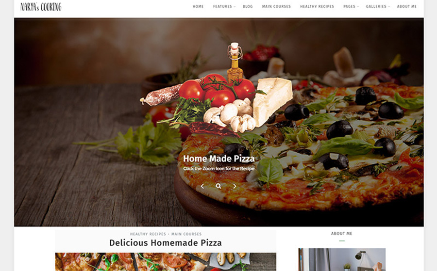Premium Cookery Blog WordPress Theme
