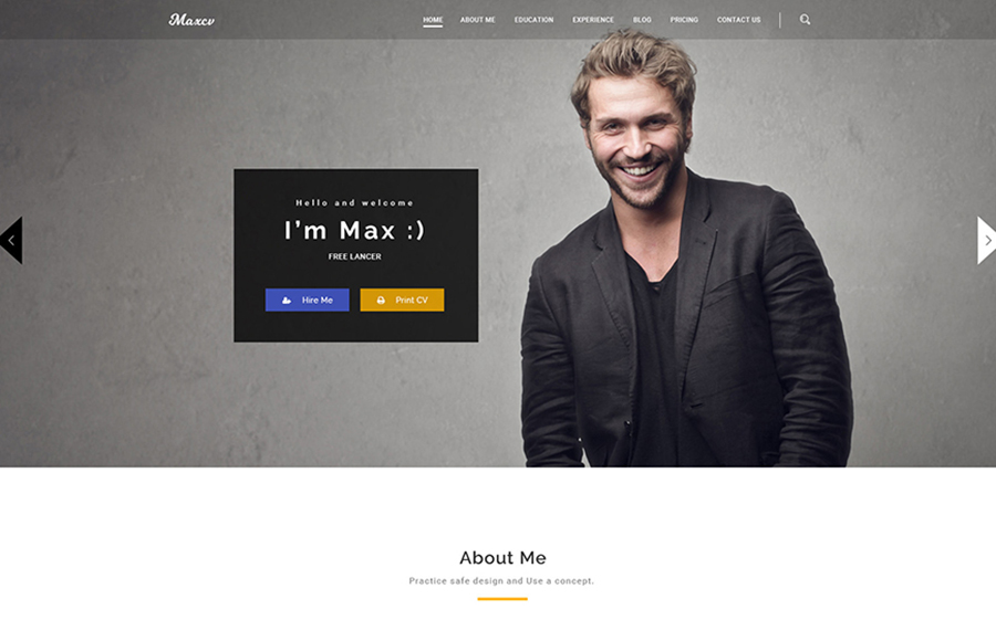 Max CV - Resume & Personal Portfolio WordPress Theme