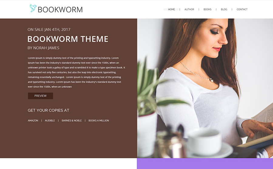 NSimple & Elegant Full-Screen Blog WordPress Theme