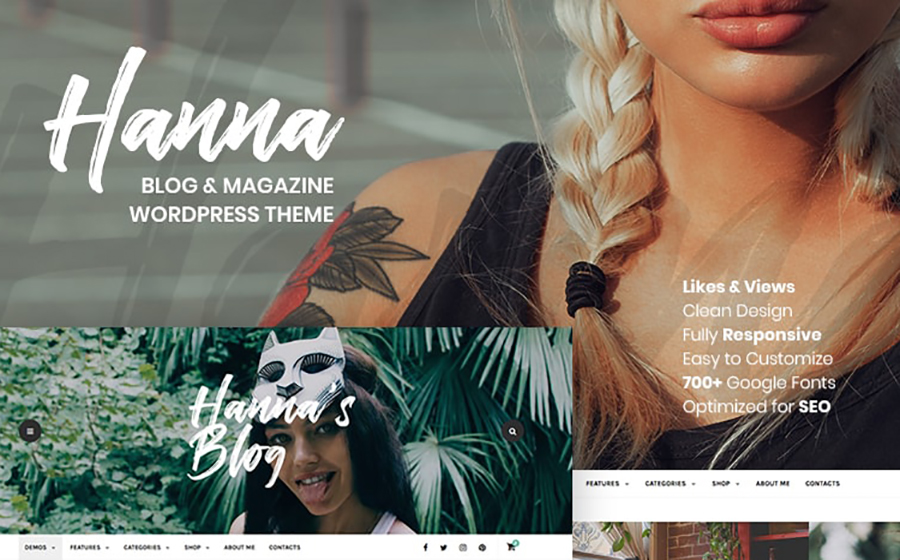 Elegant Fashion Blog Responsive WordPress Template