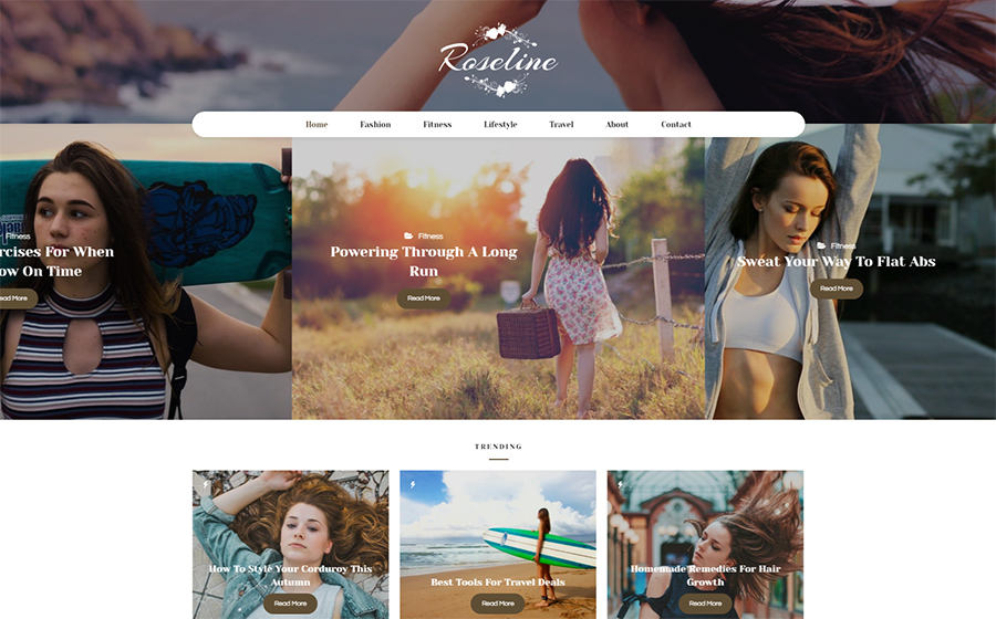 Atmospheric Photo Gallery & Blog WordPress Template