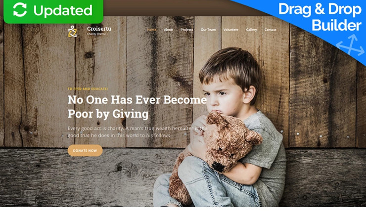 Best Charity Website Templates for Non-profit Organizations Premium