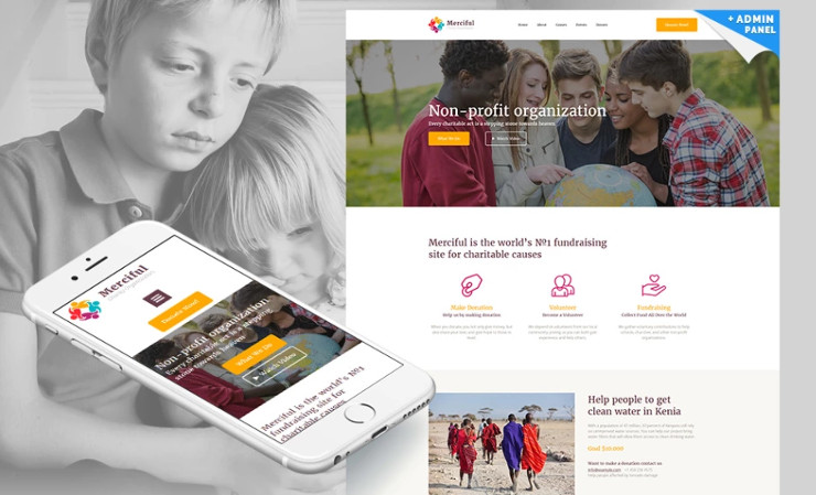 Best Charity Website Templates for Non-profit Organizations Premium ...
