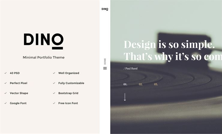Dino Creative Agency Portfolio Template Web3Canvas