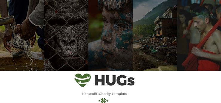 Hugs Charity PSD Web Templates Web3Canvas
