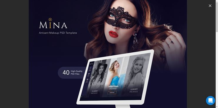 Mina Beauty PSD Template Web3Canvas