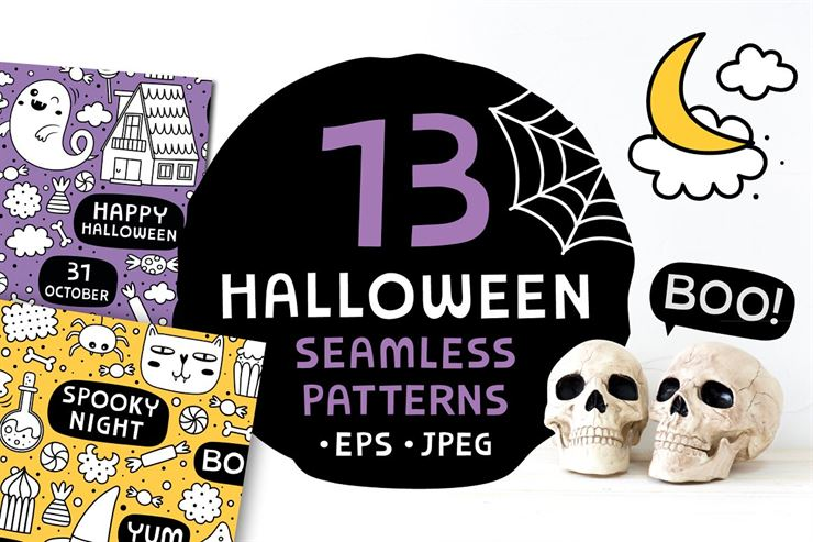 13 Halloween Patterns Web3Canvas
