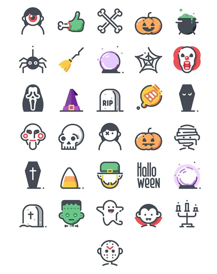 31 Halloween Icons Web3Canvas