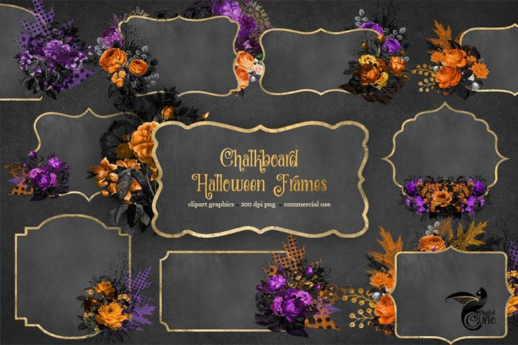 Chalkboard Halloween Frames Web3Canvas