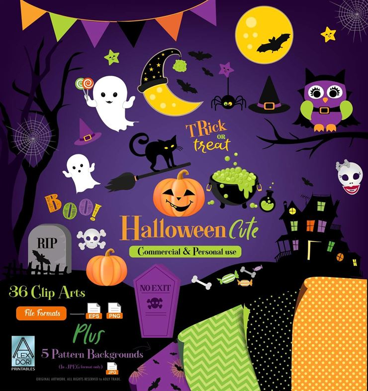 Cute Halloween Clipart Boo Party Web3Canvas