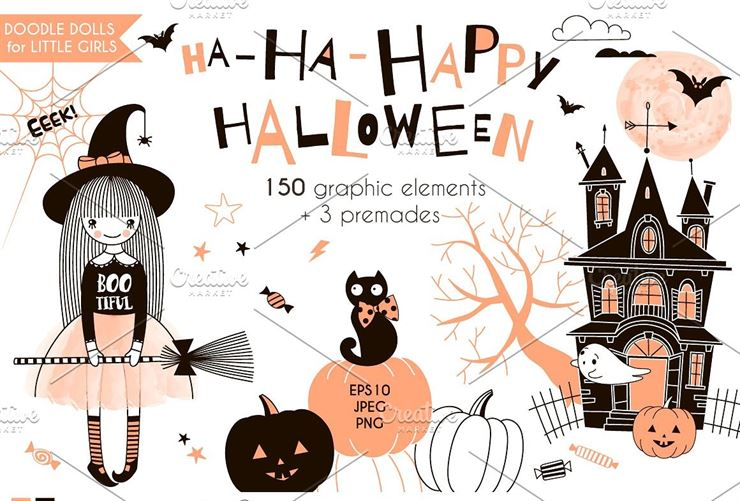 Cute Halloween Graphic Kit Web3Canvas