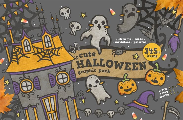 Cute Halloween Graphic Pack Web3Canvas