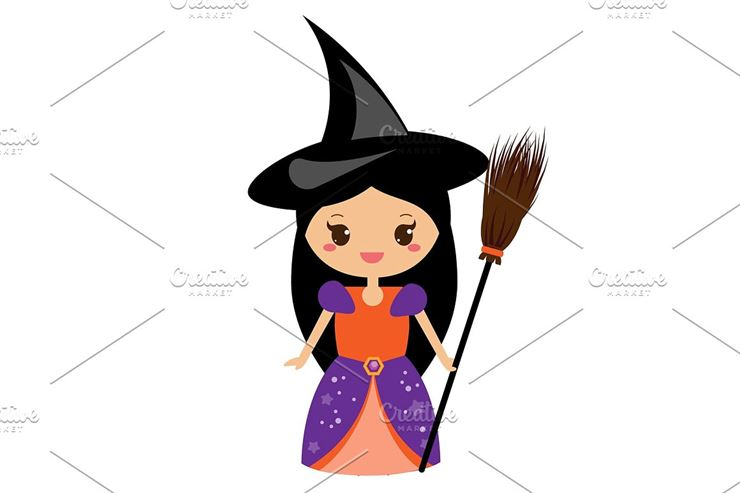 Cute Halloween Witch Web3Canvas