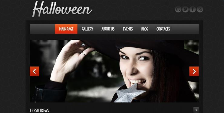 Halloween Atmosphere WordPress Theme Web3Canvas