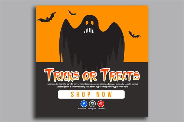 Halloween Banner Psd Template 11 Web3Canvas