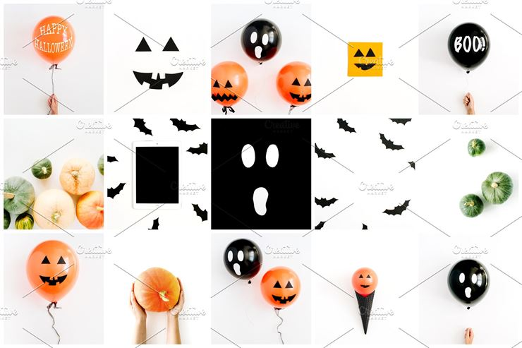 Halloween Bundle - 15 styled stock photos Web3Canvas