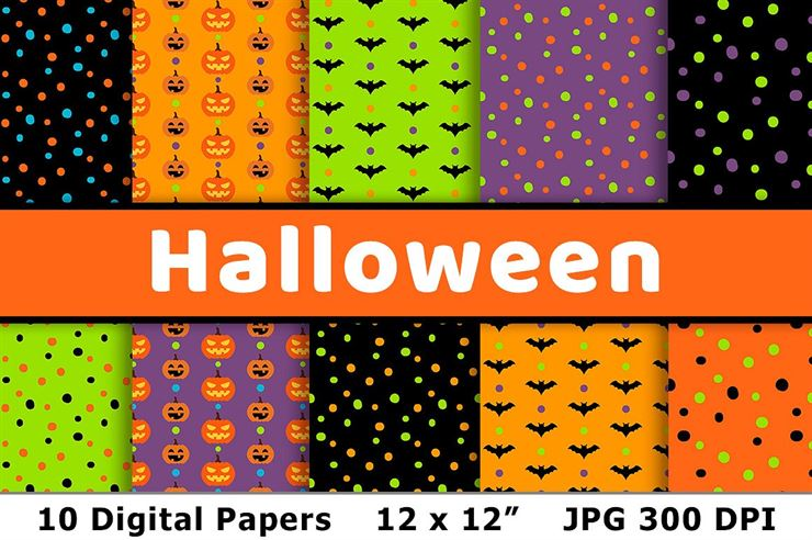 Halloween Digital Papers 2 Web3Canvas