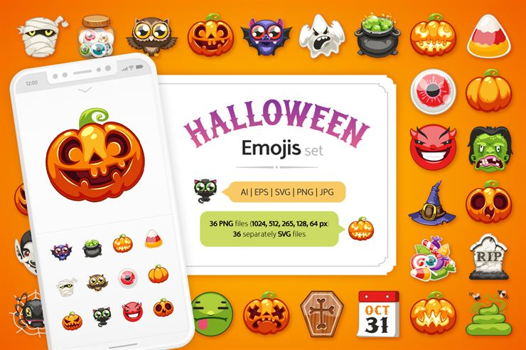 Halloween Emojis Set Web3Canvas