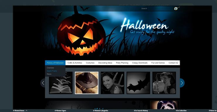 Halloween PSD Template Web3Canvas