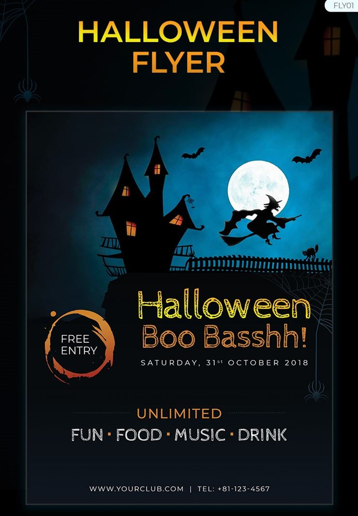 Halloween Party Flyer Corporate Identity Template Web3Canvas