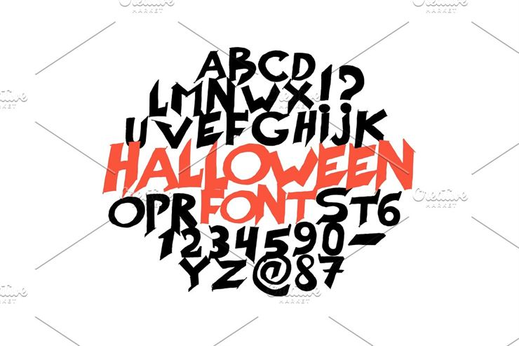 Halloween font for poster. Scary Web3Canvas