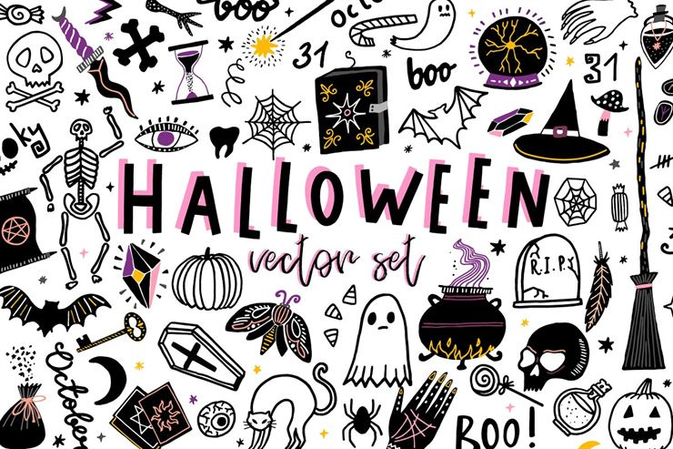 Halloween vector set Web3Canvas